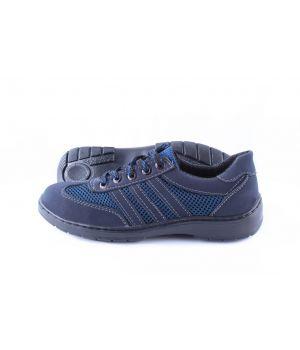 Koobeek: Подростковые кроссовки №3 сетка синяя