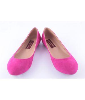 KooBeek: Женские балетки бархат (розовые)