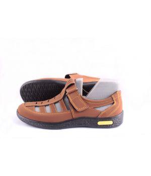 Koobeek: Летний туфель №17 коричневый оптом