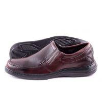 Ankor: Классические мужские туфли (Резинка №1) коричневые оптом